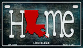 Louisiana Home State Outline Wholesale Novelty Motorcycle Plate MP-12009