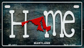 Maryland Home State Outline Wholesale Novelty Motorcycle Plate MP-12011
