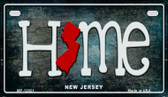 New Jersey Home State Outline Wholesale Novelty Motorcycle Plate MP-12021