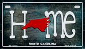 North Carolina Home State Outline Wholesale Novelty Motorcycle Plate MP-12024