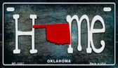 Oklahoma Home State Outline Wholesale Novelty Motorcycle Plate MP-12027