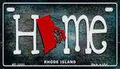 Rhode Island Home State Outline Wholesale Novelty Motorcycle Plate MP-12030