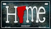 Vermont Home State Outline Wholesale Novelty Motorcycle Plate MP-12036