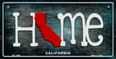 California Home State Outline Wholesale Novelty Bicycle Plate BP-11996
