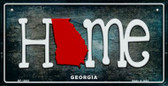 Georgia Home State Outline Wholesale Novelty Bicycle Plate BP-12001