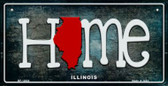 Illinois Home State Outline Wholesale Novelty Bicycle Plate BP-12004