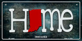 Indiana Home State Outline Wholesale Novelty Bicycle Plate BP-12005