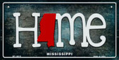 Mississippi Home State Outline Wholesale Novelty Bicycle Plate BP-12015
