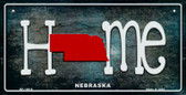 Nebraska Home State Outline Wholesale Novelty Bicycle Plate BP-12018