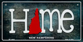 New Hampshire Home State Outline Wholesale Novelty Bicycle Plate BP-12020