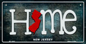 New Jersey Home State Outline Wholesale Novelty Bicycle Plate BP-12021