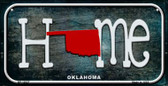 Oklahoma Home State Outline Wholesale Novelty Bicycle Plate BP-12027