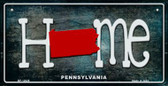 Pennsylvania Home State Outline Wholesale Novelty Bicycle Plate BP-12029