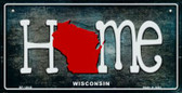 Wisconsin Home State Outline Wholesale Novelty Bicycle Plate BP-12040