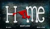 Maryland Home State Outline Wholesale Novelty Magnet M-12011