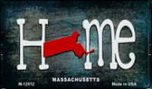Massachusetts Home State Outline Wholesale Novelty Magnet M-12012