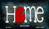 Michigan Home State Outline Wholesale Novelty Magnet M-12013