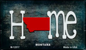 Montana Home State Outline Wholesale Novelty Magnet M-12017