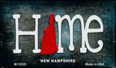 New Hampshire Home State Outline Wholesale Novelty Magnet M-12020