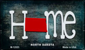 North Dakota Home State Outline Wholesale Novelty Magnet M-12025