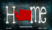 Washington Home State Outline Wholesale Novelty Magnet M-12038