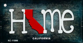 California Home State Outline Wholesale Novelty Key Chain KC-11996