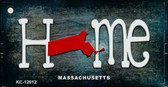 Massachusetts Home State Outline Wholesale Novelty Key Chain KC-12012