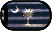 South Carolina Corrugated Flag Wholesale Novelty Dog Tag Necklace DT-11981