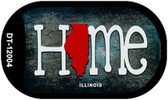 Illinois Home State Outline Wholesale Novelty Dog Tag Necklace DT-12004