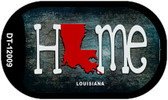 Louisiana Home State Outline Wholesale Novelty Dog Tag Necklace DT-12009