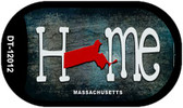 Massachusetts Home State Outline Wholesale Novelty Dog Tag Necklace DT-12012