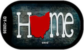 Ohio Home State Outline Wholesale Novelty Dog Tag Necklace DT-12026