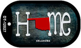 Oklahoma Home State Outline Wholesale Novelty Dog Tag Necklace DT-12027
