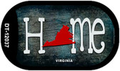 Virginia Home State Outline Wholesale Novelty Dog Tag Necklace DT-12037