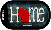 Wisconsin Home State Outline Wholesale Novelty Dog Tag Necklace DT-12040