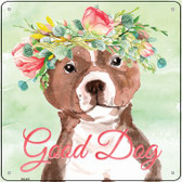 Bull Terrier Good Dog Wholesale Novelty Square Sign SQ-401