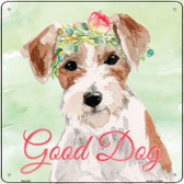 Jack Russell Good Dog  Wholesale Novelty Square Sign SQ-402