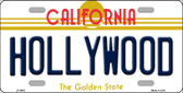 Hollywood California Novelty Wholesale Metal License Plate LP-4891