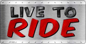 Live To Ride Wholesale Metal Novelty Bicycle License Plate BP-8369
