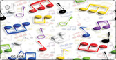 Musical Notes Multi-Color Wholesale Metal Novelty Key Chain KC-2328