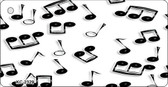 Musical Notes Black White Wholesale Metal Novelty Key Chain KC-2329