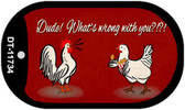 Dude What's Wrong With You Wholesale Novelty Dog Tag Kit DT-11734
