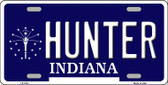 Hunter Indiana State Background Wholesale Metal Novelty License Plate LP-5101