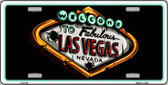 Welcome To Las Vegas Novelty Wholesale Metal License Plate LP-5136