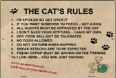The Cats Rules Wholesale Metal Novelty Large Parking Sign LGP-1030
