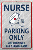 Nurse Parking Only Wholesale Metal Novelty Large Parking Sign LGP-1304