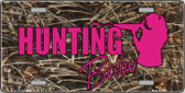 Hunting Babe Wholesale Metal Novelty License Plate LP-5262
