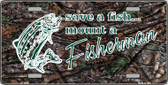 Save A Fish Wholesale Metal Novelty License Plate LP-5274