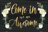 Come in we are Awesome Wholesale Novelty Large Parking Sign LGP-2300