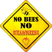 No Bees No Strawberries Wholesale Novelty Crossing Sign CX-335